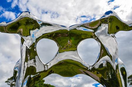 internationally: Wakefield-England July-2016 Yorkshire Sculpture Park, Internationally exhibition in the UK, This Season: Not Vital, Editorial photo Editorial