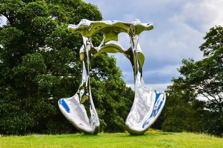 Wakefield-England July-2016 Yorkshire Sculpture Park, Internationally exhibition in the UK, This Season: Not Vital, Editorial photo Redakční