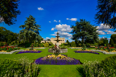 Brodsworth Hall Gardens in Doncaster, South Yorkshire. Used color effects. Stock Photo