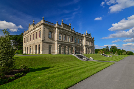 stately home: Photograph of an English 19th Century Stately Home, Brodsworth, South Yorkshire.