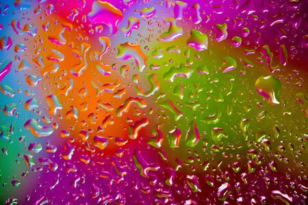 Colorful Water drops background Stock Photo