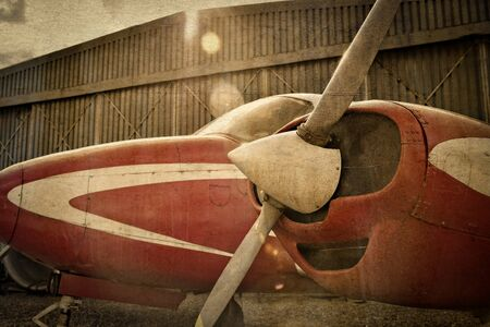 monoplane: Old monoplane aircraft with use of antique photo effect Stock Photo