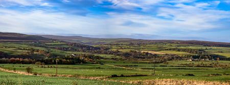 Rolling english countryside at Peak District National Park Stock Photo