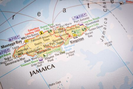 Jamaica is an island country situated in the Caribbean Sea, popular place for holidays Zdjęcie Seryjne