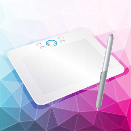 tablet: vector graphics tablet with stylus