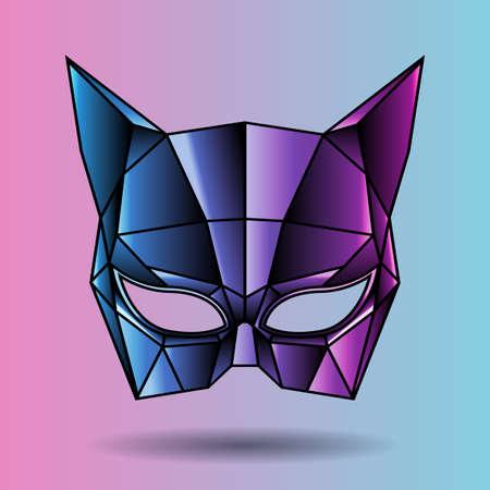 masque: colored mask superhero cat woman