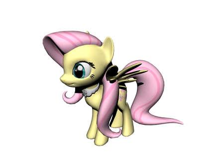 yellow pink pony in the nursery Standard-Bild