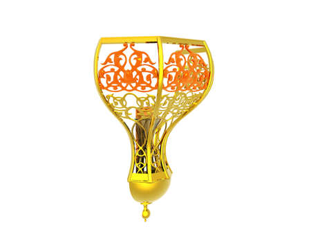 golden finely decorated wall lamp