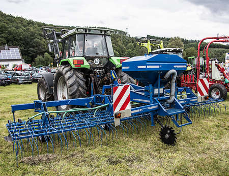 Agricultural machinery on pasture