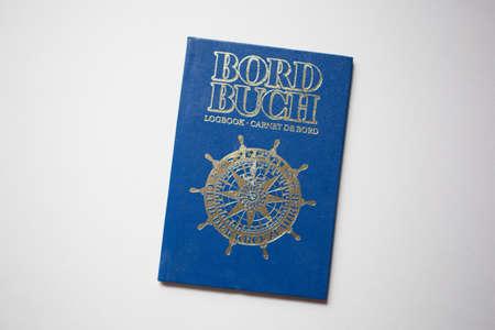 blue log book of seafaring