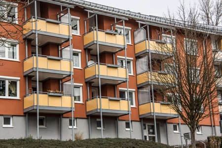 colorful high-rise buildings in prefabricated buildings