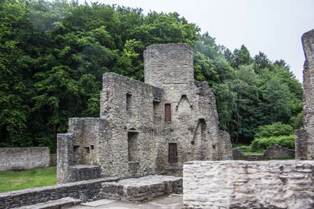 Castle ruin Hardenstein in Witten 免版税图像