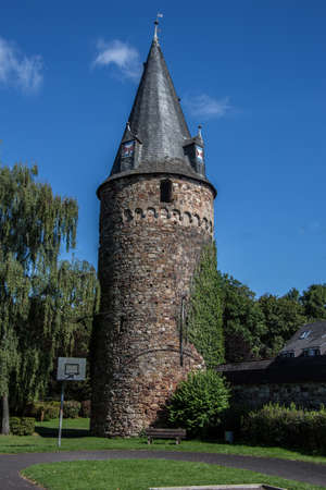 Owl tower in Dierdorf Westerwald 免版税图像