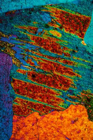 Granite metamorphic deep rock made of quartz, feldspar and mica 100x