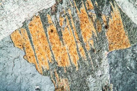 Granite rock under the microscope 100x Banco de Imagens