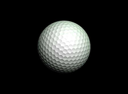Golf balls against a black background