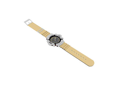 modern wristwatch with plastic strap
