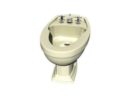 ceramic bidet in the bathroom
