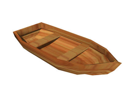 old rowboat floats in the water