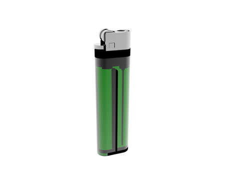 green disposable lighter with flint
