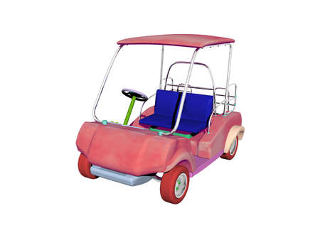 red golf cart for driving off-road