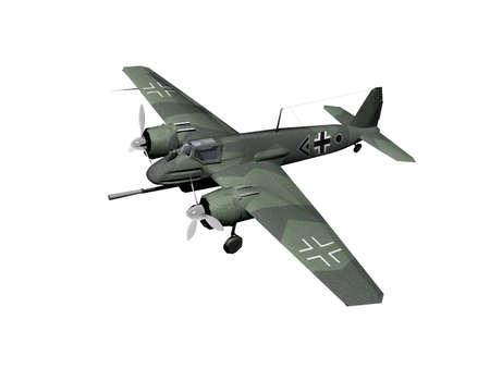 Propeller plane as a World War I fighter