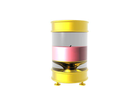 golden candle holder with pink candles