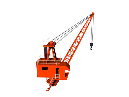 heavy crane with boom and hook