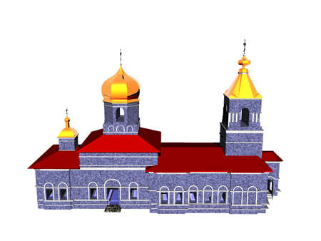 russian church with golden onion domes