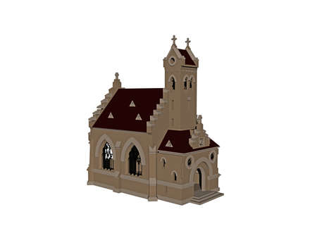 old church with steeple