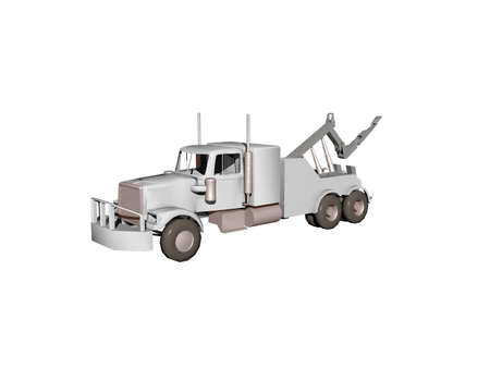 Truck with crane and boom