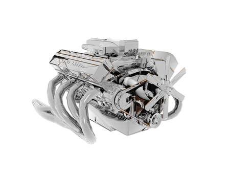 steel car engine block with manifold