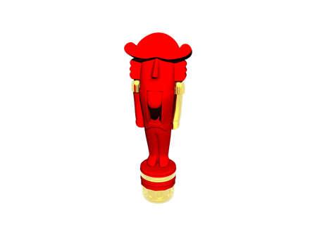 red wooden figure as a nutcracker