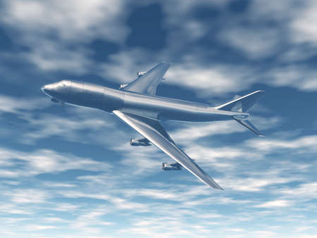 large passenger plane in the sky