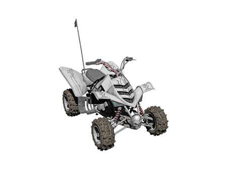 four-wheel all-terrain vehicle with remote control Foto de archivo