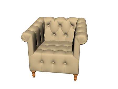 comfortable old upholstered armchair