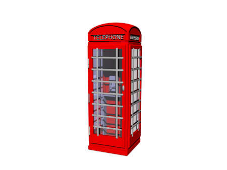 red english phone booth with glass panels
