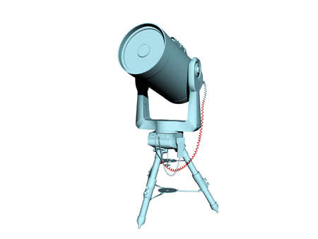 Telescope on tripod for sky observation 版權商用圖片