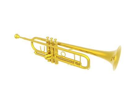 golden trumpet to make music Фото со стока