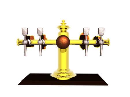 Beer dispenser in the pub 写真素材