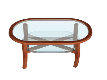Round living room table with glass tops