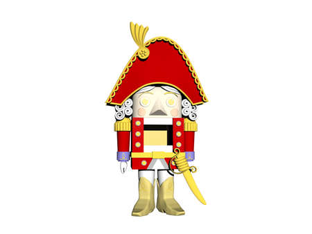 red wooden soldier as a nutcracker