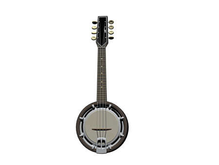 Banjo as a stringed instrument for making music
