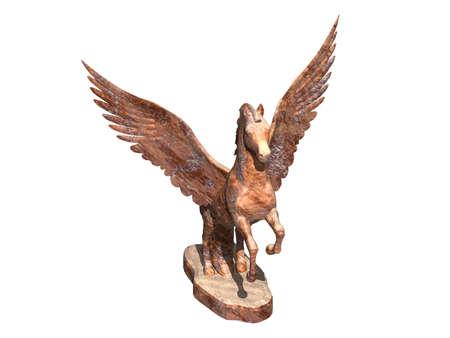mystical hybrid of mammal and bird Standard-Bild