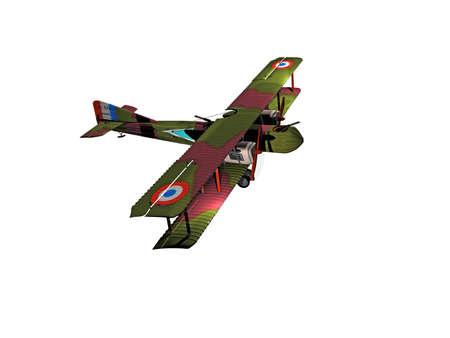 historic biplane airplane flies in the sky