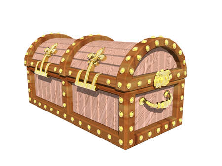 wooden treasure chest with fittings