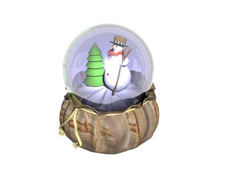 Christmas snow globe in a bag Stockfoto