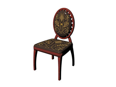 antique wooden chair with upholstery