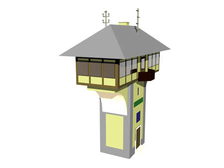 Signal box of the station on stilts