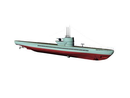 Submarine with propeller drive Standard-Bild